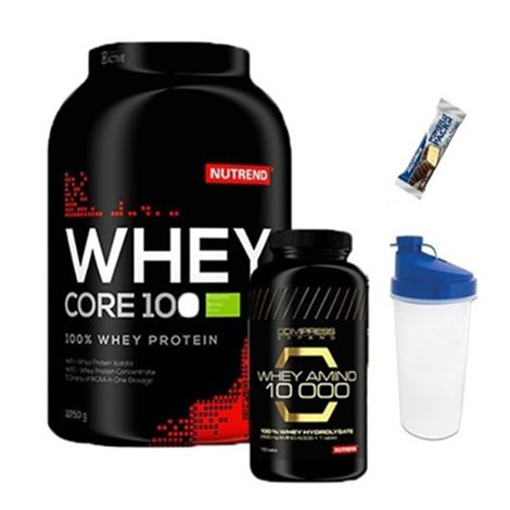 Nutrend Whey Protein 2.25 Kg + Whey Amino 10000+Shaker+Protein Bar