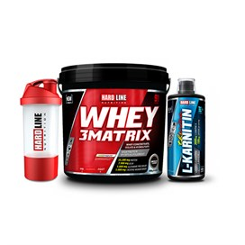 Hardline Whey 3Matrix 4000 gr + L-Karnitin Thermo 1000 ml