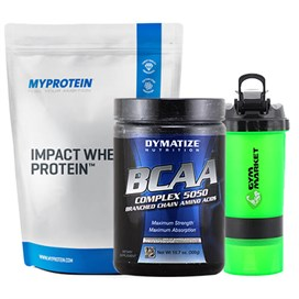 .MyProtein Impact Whey Protein + Dymatize BCAA 300 gr