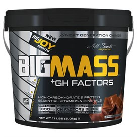 Bigjoy Sports BIGMASS Gainer + GH FACTORS 5000g Karbonhidrat Tozu